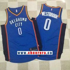 998f1e29b Men s Oklahoma City Thunder  0 Russell Westbrook Royal Blue 2017-2018 Nike  Swingman Stitched