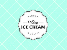 graphics inspiration from vintage ice cream logos