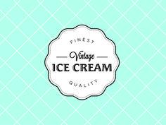 Dribbble - Vintage Ice Cream Van Logo Concept 2 by Steve Hayward