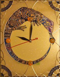 Декоративные настенные часы: часть 5. Технология Тиффани и пленочный витраж Zen Designer