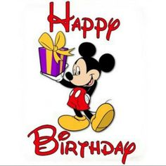 Happy Birthday Wishes From Mickey Mouse Card Happy Birthday Mickey Mouse, Happy 35th Birthday, Mickey Mouse Parties, Happy Birthday Wishes, Minnie Mouse, Disney Happy Birthday Images, Disney Birthday Wishes, Happy Birthday Valentines Day, Happy Birthdays