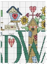 Schema punto croce Alfabeto-bird-2