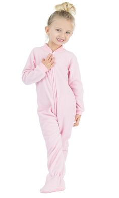 7b4a053f88 Baby Pink - Toddler Fleece Footed Pjs
