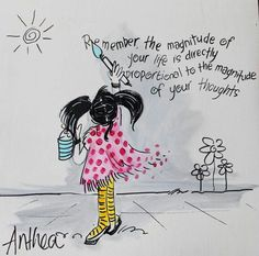 Life x Thoughts - deur Anthea Art __[AntheaKlopper/FB]  #LifeQuotes #think