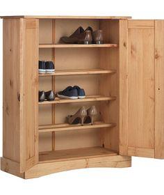 Buy Puerto Rico 2 Door Storage Cabinet - Solid Antique Pine at Argos.co.uk - Your Online Shop for Shoe storage.