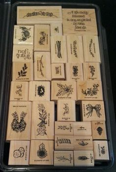 Stampin Up SWAGS, SPRAYS N' STUFF Rubber Stamp Set FLOWERS Fall Leaves Country  #StampinUp #FlowersSayingsCountryFallLeavesTwigs