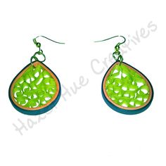 Handmade Quilled earrings. Call on +917086603269 or order from http://www.snapdeal.com/brand/hazel-hue-creatives/