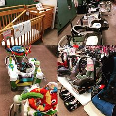 Some of the baby gear waiting for you for our opening day of public shopping! No entrance fee today. #babies #consign #kids #quakertown #lehighvalley