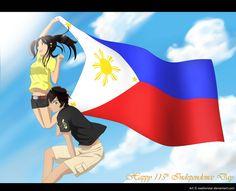 by ExelionStar on DeviantArt Hetalia Philippines, Hetaoni, Usuk, I Love To Laugh, Independence Day, Anime Couples, Deviantart, History, Happy