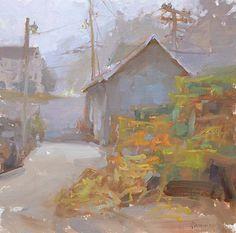 Morning Fog by Shannon Smith Hughes Oil ~ 12 x 12