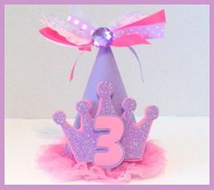 Sofia the First Party Hat, Sofia the 1st by PSKreativeKreations, $15.00 - Age can be customized upon request.