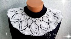 "Round coquette with embossed leaves ""Kaleidoscope"" Crochet Collar, Crochet Blouse, Knit Crochet, Crochet Clothes, Cross Stitch Embroidery, Crochet Necklace, Crochet Patterns, Knitting, Women"