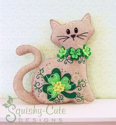 Chat en peluche animaux Pattern patron de par SquishyCuteDesigns