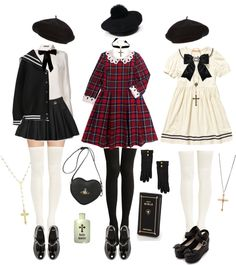 "Non-Cosplay/Lolita Outfits for Conventions - ""/cgl/ - Cosplay & EGL"" is imageboard for the discussion of cosplay, elegant gothic lolita (EGL), and anime conventions. Harajuku Fashion, Kawaii Fashion, Lolita Fashion, Cute Fashion, Fashion Outfits, Japanese Fashion, Asian Fashion, Mode Lolita, Grunge Goth"