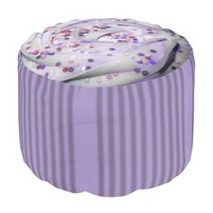 Purple Cupcake Pastel Goth Foot Stool by Gothic Home #PastelGoth #SoftGrunge