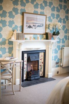 Gas fire in the ground floor master bedroom en suite Gas Fires, Holiday Accommodation, Ground Floor, Master Bedroom, Flooring, Luxury, Home Decor, Master Suite, Homemade Home Decor