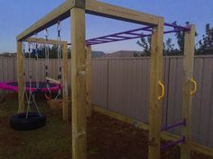 Play gym that John designed and built for the girls
