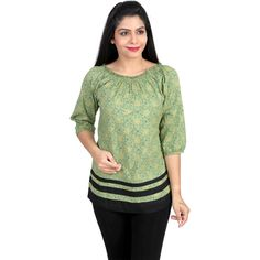 Bring some chicness into your casual wardrobe with this mint printed top from Chick Bird Fashioned  this  top features a round neck, and all over floral print. Buy Now : http://www.calicozkart.com/chikbird-top-92.html #FloralTops #Calicozkart