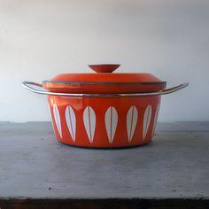 Cathrineholm Orange Lotus Pot by SwitchbladeandCookie on Etsy, $125.00
