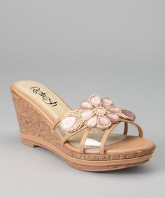 Take a look at this Beige Belle-01 Wedge Slide by Refresh on #zulily today!