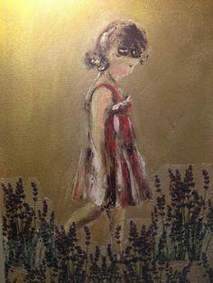 Dora - http://redarte.com.ar/2014/04/dorita-y-sus-lavandas/ #RedArte #Art #Arte #Pintura #Dibujo