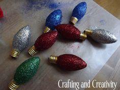 DIY Glitter Christmas Lights