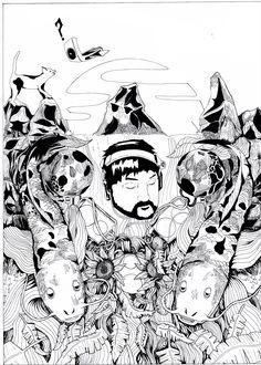 #MelicsRichardArtwork #Nujabes #illustration #ink #inkdrawing #nujabesartwork #melicsrichardart