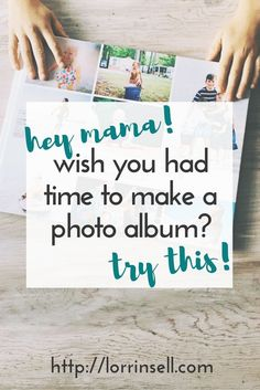 Making a photo album doesn't have to be time consuming and difficult. You can actually make one in just a few minutes with this system.