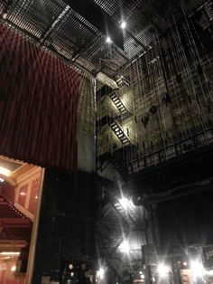 The catwalk stairs backstage at the Orpheum theatre in Minneapolis. Amazing!