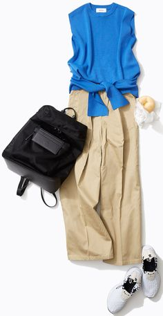 ルミネ「夏トレンド」スポーツアイテムは辛口モノトーンで! 上品でまねしやすいスタイリングで人気のスタイリスト入江未悠さんがルミネ池袋のショップアイテムを使ってさりげなくスポーツテイストを取り入れるおしゃれテクをレッスン! Over 50 Womens Fashion, Xl Fashion, Spring Fashion, Fashion Looks, Fashion Outfits, Japanese Outfits, Japanese Fashion, Classy Outfits, Casual Outfits