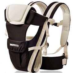CdyBox Adjustable 4 Positions Carrier 3d Backpack Pouch Bag Wrap Soft Structured Ergonomic Sling Front Back Newborn Baby Infant Khaki ** You can find more details by visiting the image link. (This is an Amazon affiliate link)
