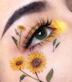 easter eye makeup with natural green contacts! Applicable to both light & dark eyes! Small Diameter, Super Natural Effect Edgy Makeup, Makeup Eye Looks, Eye Makeup Art, Colorful Eye Makeup, Crazy Makeup, Cute Makeup, Pretty Makeup, Eyeshadow Makeup, Makeup Eyes