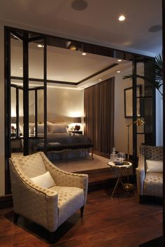 This secluded bedroom suite is a quiet place to relax and get work ...