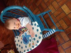 Restoring wooden high chairs.