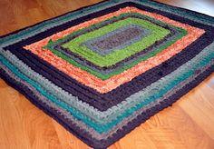 Custom made rug by recyclingartistemily, via Flickr
