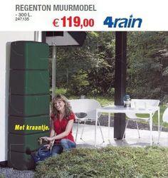 Regenton muurmodel - 4Rain