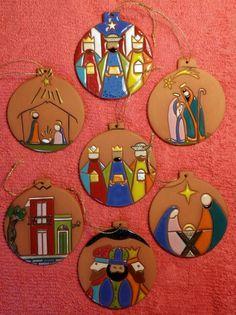 Nativity Ornaments, Christmas Nativity Scene, Diy Christmas Cards, Little Christmas, Family Christmas, Christmas Sale, Christmas Themes, Christmas Crafts, Christmas Ornaments