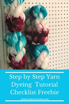 Wanting to start yarn dyeing but overwhelmed with the information? Click through for this FREE checklist and equipment list to help you start dyeing your own yarn today! Autumn Activities For Kids, Spring Activities, Embroidery On Clothes, Coding For Kids, Knitting Projects, Knitting Tutorials, Maker, Cool Diy Projects, Diy On A Budget