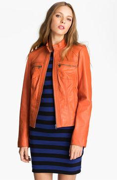 Bernardo Leather Scuba Jacket (Nordstrom Exclusive) available at #Nordstrom