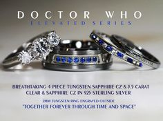 Breathtaking 4 Piece Doctor Who His 8mm von Cloud9Tungsten auf Etsy