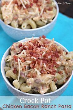 #CrockPot / Chicken Bacon Ranch Pasta | MBSIB: ...