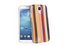 Colorful Flowing Stripes IML Hard Plastic Protector Cases for Samsung Galaxy S4 | Lagoo Tech