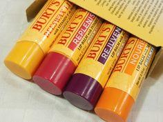Burt's Bees Lip Balms: Replenishing, Nourishing, Rejuvenating and Beeswax Review