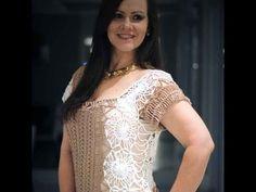 Blusa nude e branca em crochê de grampo - Helen Mareth - YouTube