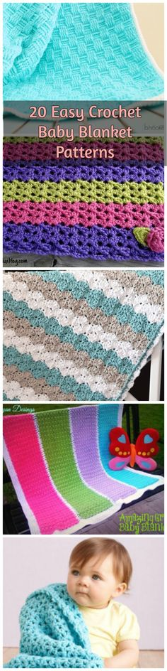 Looking for an easy baby blanket pattern? Look no further, check out these 20 beautiful and easy crochet baby blanket patterns! #crochetblankets