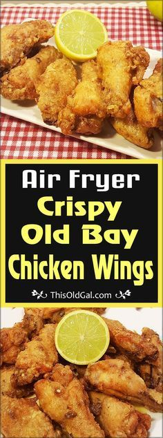 Air Fryer Crispy Old Bay Chicken Wings with Warm Lemon Butter Savory Air Fryer Crispy Old Bay Chicken Wings are crunchy, mildly spicy and full of flavor. Serve them up with a warm Lemon Butter Sauce for dipping. Air Frier Recipes, Air Fryer Oven Recipes, Air Fryer Recipes Wings, Deep Fryer Recipes, Power Air Fryer Recipes, Air Fryer Recipes Potatoes, Air Fryer Recipes Appetizers, Air Fryer Baked Potato, Air Fryer Chicken Tenders