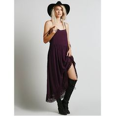 Free People Purple Easy Breezy Crochet Slip Such a beautiful color for this time of year! It's silhouette is flowy and super comfortable to be in! Only worn one to a wedding. Slightly sheer  Free People Dresses
