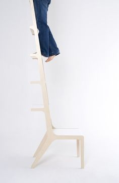 It's a chair... one that makes it possible to reach my books!