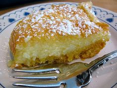 Chess Squares  This very sweet dessert is a Southern classic. It's similar to chess pie, but much easier to make.
