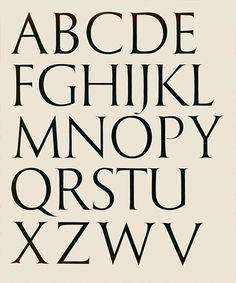 McFadden Trajan Alphabet Design